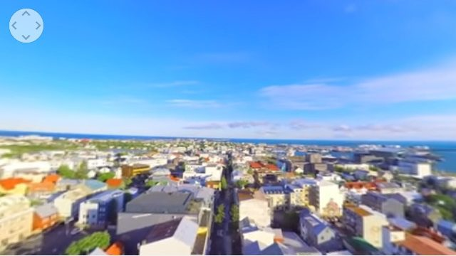 空から見た街並み