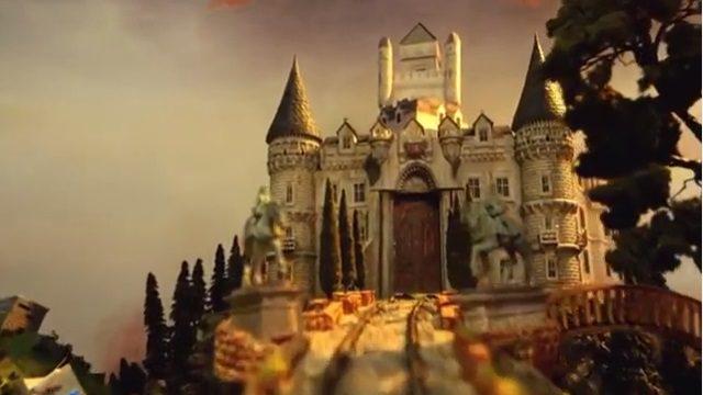 目の前に現れるお城