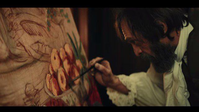 食事の絵を描く画家
