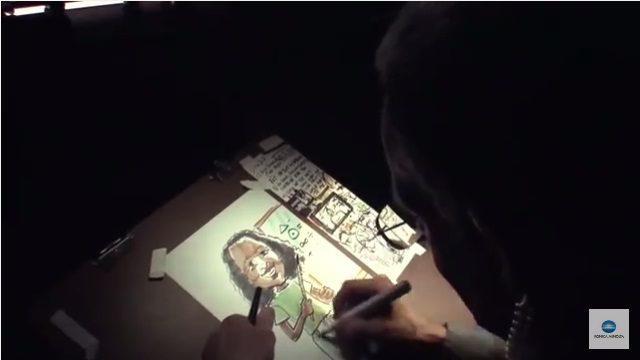 プリンターの中の絵描き